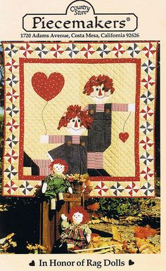 """Raggedy Ann and Andy quilt """"Rag  Doll Inspirations"""""""