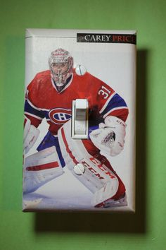 Carey Price Montreal Canadiens NHL Hockey Light Switch Cover Plate mancave boys child room home decor bedroom 31 Habs goalie by ComicRecycled on Etsy Bohemian Interior Design, Room Interior Design, Small Room Interior, Kitchen Interior, Montreal Canadiens, Child Room, Kids Room, Rooms Home Decor, Bedroom Decor