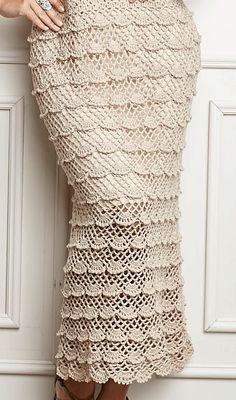 Fabulous Crochet a Little Black Crochet Dress Ideas. Georgeous Crochet a Little Black Crochet Dress Ideas. Crochet Skirt Pattern, Crochet Lace Edging, Crochet Skirts, Knit Skirt, Crochet Shawl, Crochet Clothes, Knit Crochet, Crochet Patterns, Crochet Wedding Dresses