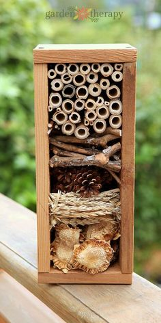 Build a Bug Hotel. A Build a Bug Hotel. A bug hotel is part garden art and part winter habitat for beneficial insects the garden army that helps to keep the bad bugs under control. Garden Crafts, Garden Projects, Garden Art, Garden Tools, Diy Crafts, Garden Design, Garden Club, Garden Ideas, Bug Hotel