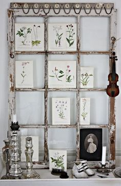Redecorating by Repurposing • Lots of Ideas and Tutorials! • Including this inspiration board from an old window from millas hem.