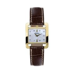 Michel Herbelin Ladies Gold Plate Watch 17137/P59MA Swiss Quartz Movement 18ct Gold Plate Case Case Dia 25mm Stainless Steel Back Mother Of Pearl Dial Crystal Markers Mineral Crystal Water Resistance 3atm Brown Leather Croco Grain Strap With Gold Plate Pin Buckle Reference 17137/P59MA All Michel Herbelin Watches Arrive In Branded Packaging