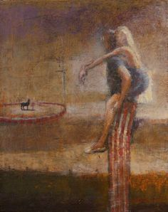 """""""Daughter of a Trapeze Artist, Son of the Tall Man"""" by #MaxHammond Oil on Canvas 20"""" x 16"""""""