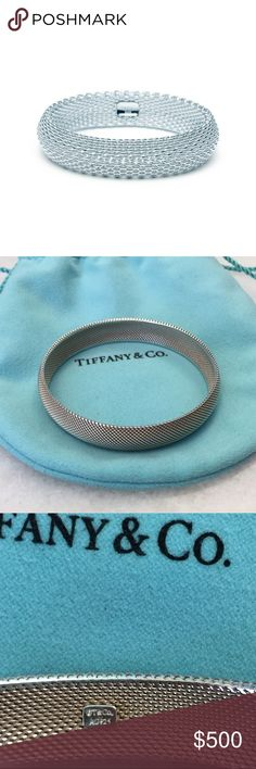 TIFFANY SOMERSET™ BANGLE Authentic Tiffany Bangle. Only worn a handful of times. 2.5 inch diameter. 😘 Tiffany & Co. Jewelry Bracelets
