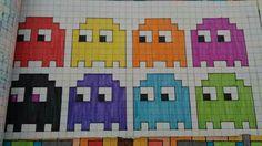 Pix Art, Graph Design, Pac Man, Perler Patterns, Doodle Drawings, Pattern Art, Beading Patterns, Cross Stitch, Doodles