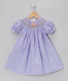 Take a look at this Purple Flower Basket Bishop Dress - Toddler by Rosalina on #zulily today!