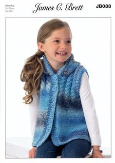 Knitting Pattern Hooded Top in James C. Brett Marble Chunky (JB088) | eBay