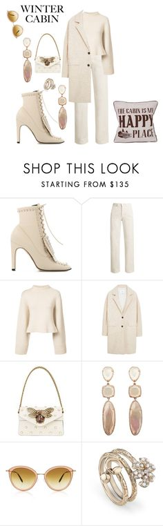 """""""🐿"""" by chantelle3798 ❤ liked on Polyvore featuring Sergio Rossi, Rachel Comey, Khaite, MANGO, Gucci, Oliver Peoples and cozycabin"""
