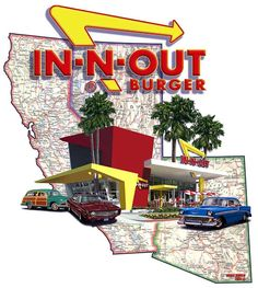 IN-N-OUT Burger! Even though they are popping up in other states, California is where it all started! In And Out Burger, Good Burger, Places In California, California Dreamin', Norwalk California, Inn N Out, Food Places, Recipes From Heaven, Nevada