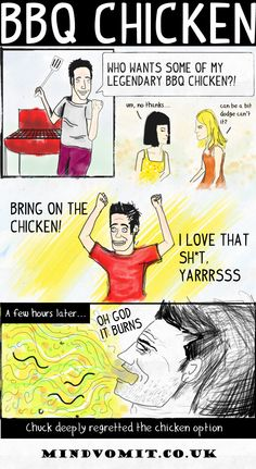 The trials and tribulations of BBQ chicken http://mindvomit.co.uk