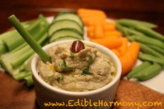 Paleo Baba Ganoush~traditional middle east appetizer, similar to hummus, but made with roasted eggplant. Lighter & creamier. Serve with pita bread or use it to dip raw veggies in...also salad dressing (when diluted with more oil & vinegar)~or as sandwich spread, in wraps or over grilled veggies....mmm, yummy!