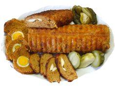 Sziszi,és barátai konyhája 2: Stefánia /tojással töltött fasírt őzgerinc formában sütve/burgonya pürével tálalva. Sausage, Meat, Food, Sausages, Essen, Meals, Yemek, Eten, Chinese Sausage