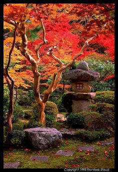 A stone lantern. It'd be cool if I could actually get them to light up at night! It'd be even cooler if I had one.