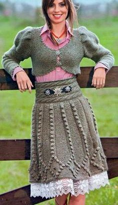 "Photo from album ""САБРИНА 9 on Yandex. Crochet Skirt Pattern, Crochet Skirts, Knit Skirt, Knit Or Crochet, Crochet Clothes, Knit Dress, Knitted Jackets Women, Skirt Fashion, Clothing Patterns"