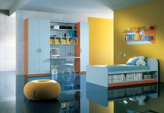 blue and yellow bedroom ideas for teenage girls
