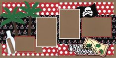 Double Layout Disney Pirates of the Caribbean Scrapbook pages by EZscrapbooks.com We offer designs in both Physical AND digital formats. Just add photos! #vacationscrapbook