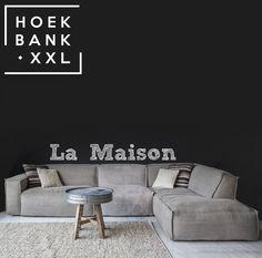 Elementenbank La maison met longchair. Grote lounge bank verkrijgbaar in verschillende elementen. U heeft keuze uit verschillende soorten stof zodat het perfect past in uw woonkamer. | HoekbankXXL