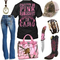 Dangerous In Camo Pink Realtree Handbag Outfit - Real Country Ladies