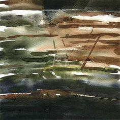 GRISAZUR: Acuarela sobre papel, 20x20 cm.Nov. 16,2015