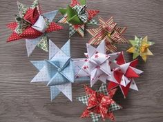 Make Christmas stars - make Christmas with paper - origami star - DIY . Origami Mouse, Origami Fish, Diy Origami, Oragami, Christmas Paper Crafts, Diy Christmas Gifts, Christmas Stars, Christmas Origami, Christmas Decorations