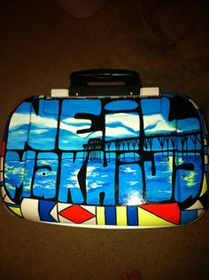 Custom Painted Roller Cooler by LoneStarPearl on Etsy, $260.00