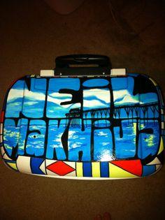 Custom Painted Roller Cooler #sorority #cooler