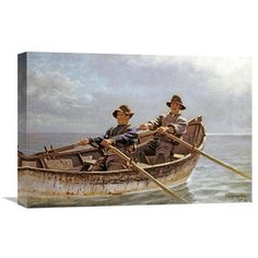 Global Gallery 'Heading Out' by John George Brown Painting Print on Wrapped Canvas Size: