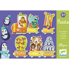 A charming 20 piece puzzle which when completed becomes a train with 10 numbered carriages. Preschool Learning, Fun Learning, Teaching Kids, Puzzles For Toddlers, Activities For Kids, Counting Puzzles, Teaching Numbers, Animal Puzzle, Musical Toys