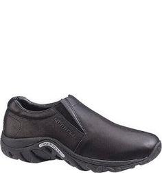 99b3b868049a 60889 Merrell Men s Leather Jungle Moc Casual Shoes- Black www.bootbay.com