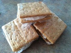 Weight Watchers 1 Point Ice Cream Sandwich.  Awesome snack! I use Fat Free Cool Whip.  I also use chocolate graham crackers.