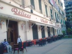 Built in 1922 by Cleovolous Moustakas, Delices' flagship store in Ramleh Station in Alexandria, Egypt Old Egypt, Cairo Egypt, Life In Egypt, Alexandria Egypt, Visit Egypt, Street View, Egyptians, Middle East, Nostalgia