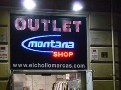 Rotulo leds vistos outlet montana shop en barcelona
