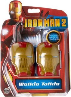 Walkie Talkie ** Iron Man 2 ** Pair by SAKAR INTERNATIONAL. $26.99. 2 WALKIE TALKIES ** WITH FLEXABLE SAFETY ANTENNA // PUSH TO TALK BUTTON // ON/OFF SWITCH // BELT CLIP INCLUDED