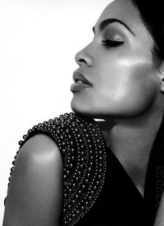 Rosario Dawson #ShaBoomProducts #BeautiesinBlackandWhite http://www.shaboomproducts.com