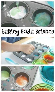 Simple Preschool Baking Soda Science Activity