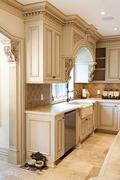 We are designers and manufacturers of high-end custom kitchens and interior woodwork Luxury Kitchen Design, Kitchen Room Design, Kitchen Cabinet Design, Home Decor Kitchen, Interior Design Kitchen, Elegant Kitchens, Luxury Kitchens, Home Kitchens, Tuscan Kitchens
