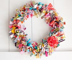Spring Decorating Ideas ~ Make a Rag Wreath