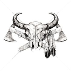 17 best ideas about evil skull 2017 on Red Indian Tattoo, Indian Skull Tattoos, Bull Skull Tattoos, Indian Tattoo Design, Cowboy Tattoos, Bull Skulls, Body Art Tattoos, Native American Tattoos, Native Tattoos