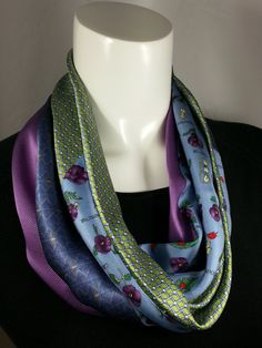 Silk Cowl Infinity Scarf from Neck Ties Neckties by ByTulle