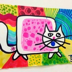 Art collectors snapped up meme'd masterpieces inspired by Internet famous feline, Nyan Cat, at a New York City show.