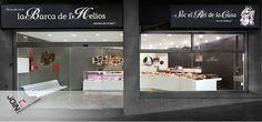 """Diseño de Pescadería """"La Barca de Helios"""" - Barcelona - Sant Cugat - Diseño comercial - Interiorismo - Mercados - Paradas de mercados - Puesto de mercado - comercial - Store design - negozi di design - mercato del pesce. fish market - marché aux poissons - Pescaderia"""