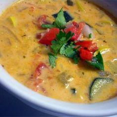Mexican Zucchini Cheese Soup - Allrecipes.com