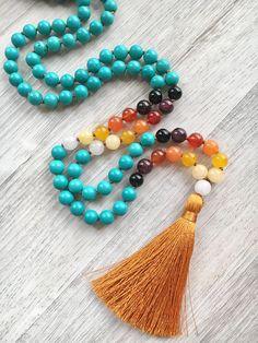 mala necklace, southwest, tassel necklace