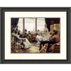 Global Gallery 'Five O'clock Tea' by Julius Leblanc Stewart Framed Painting Print Size: