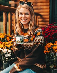 The Cozy Pumpkin Sweater – Kiel James Patrick Fall Outfits, Casual Outfits, Cute Outfits, New England Style, Autumn Aesthetic, Knit Sweater Dress, Sweater Weather, Mens Fitness, Autumn Winter Fashion