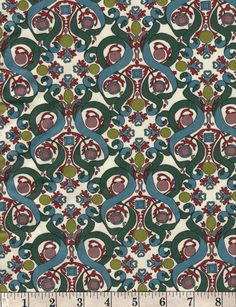 """LIBERTY OF LONDON Cotton Jersey Knit 60"""" wide. 1/2 yard. Made in England"""