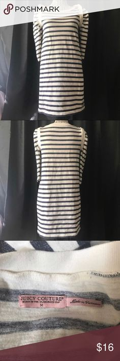 """Juicy Couture striped long sleeve cotton dress Pit to pit 17"""" Sleeve 17.5"""" Shoulder 14"""" Length 32""""  Cotton sheath shirtdress   Not what you're looking for? Feel free to browse my closet for other occasions: Winter, spring, summer, fall, birthday, New Year's Eve, Valentine's Day date, Graduation, Prom, Purim, St. Patrick's Day, Easter, Earth Day, Cinco de Mayo, Mother's Day, EDC, Coachella, Memorial Day, Comic Con, 4th of July, Labor Day, Thanksgiving, Halloween, Christmas Juicy Couture…"""