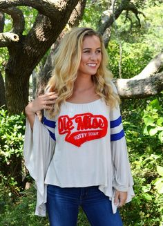Judith March University Of Mississippi - Off The Shoulder Needle Punch Top