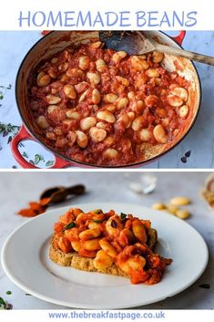 The best bit of homemade beans is filling them with flavour. Homemade Beans On Toast, Butter Beans, Vegetable Puree, Smoked Bacon, Dried Beans, Food Print, Brunch, Stuffed Peppers, Cooking