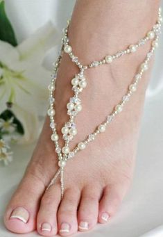 Beach wedding shoes - Finding the Perfect Beach Wedding Dress What to Take Shopping With You – Beach wedding shoes Beaded Sandals, Beaded Jewelry, Bridal Sandals, Wedding Accessories, Wedding Jewelry, Beach Wedding Shoes, Wedding Dress, Beach Shoes, Bride Shoes